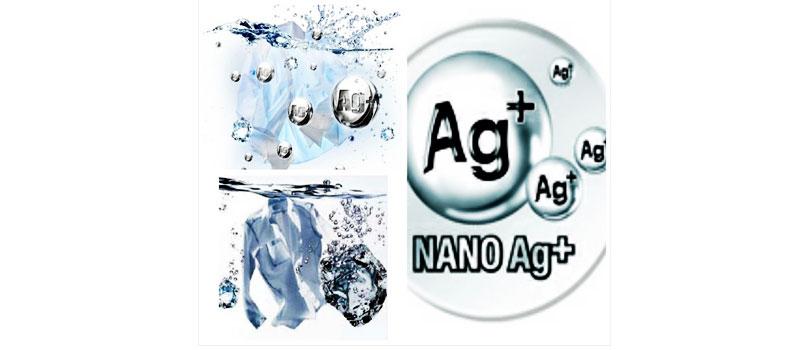 Công nghệ kháng khuẩn khử mùi Nano Ag+ giữ cho máy giặt Aqua AQW-QW80ZT (H) luôn sạch khuẩn không bị ám mùi