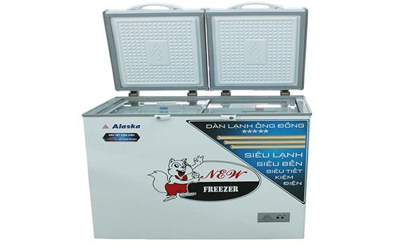 tủ đông Alaska BCD-4568C 450 lít chất liệu bằng nhựa ABS cao cấp trang nhã