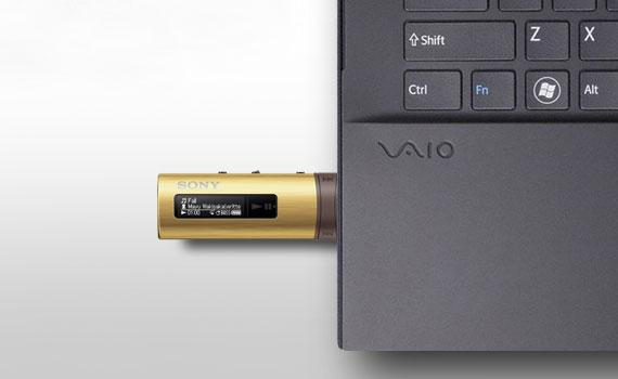 Máy nghe nhạc MP3 Sony NWZ-B183F kết nối nhanh chóng