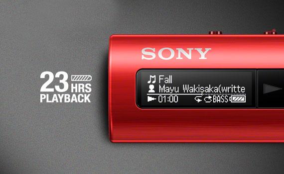 Máy nghe nhạc MP3 Sony NWZ-B183F cho thời lượng sử dụng cao