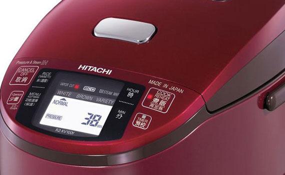 Bảng điều khiển nồi cơm điện Hitachi RZ-KV180YS dễ sử dụng