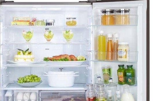 Tủ lạnh Panasonic NR-F610GT thiết kế với ngăn mát rộng
