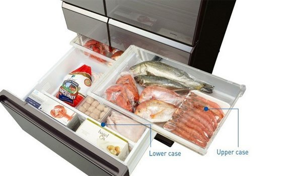 Tủ lạnh Panasonic NR-F610GT trang bị ngăn đông tiện lợi