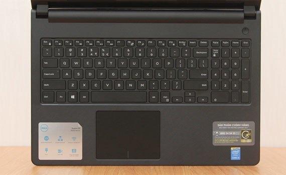 Máy tính xách tay Dell Vostro 3558 trang bị bàn phím hiện đại