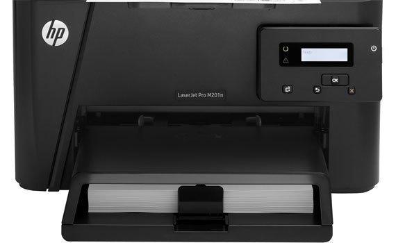 Máy in laser HP Pro M201N trang bị màn hình LCD
