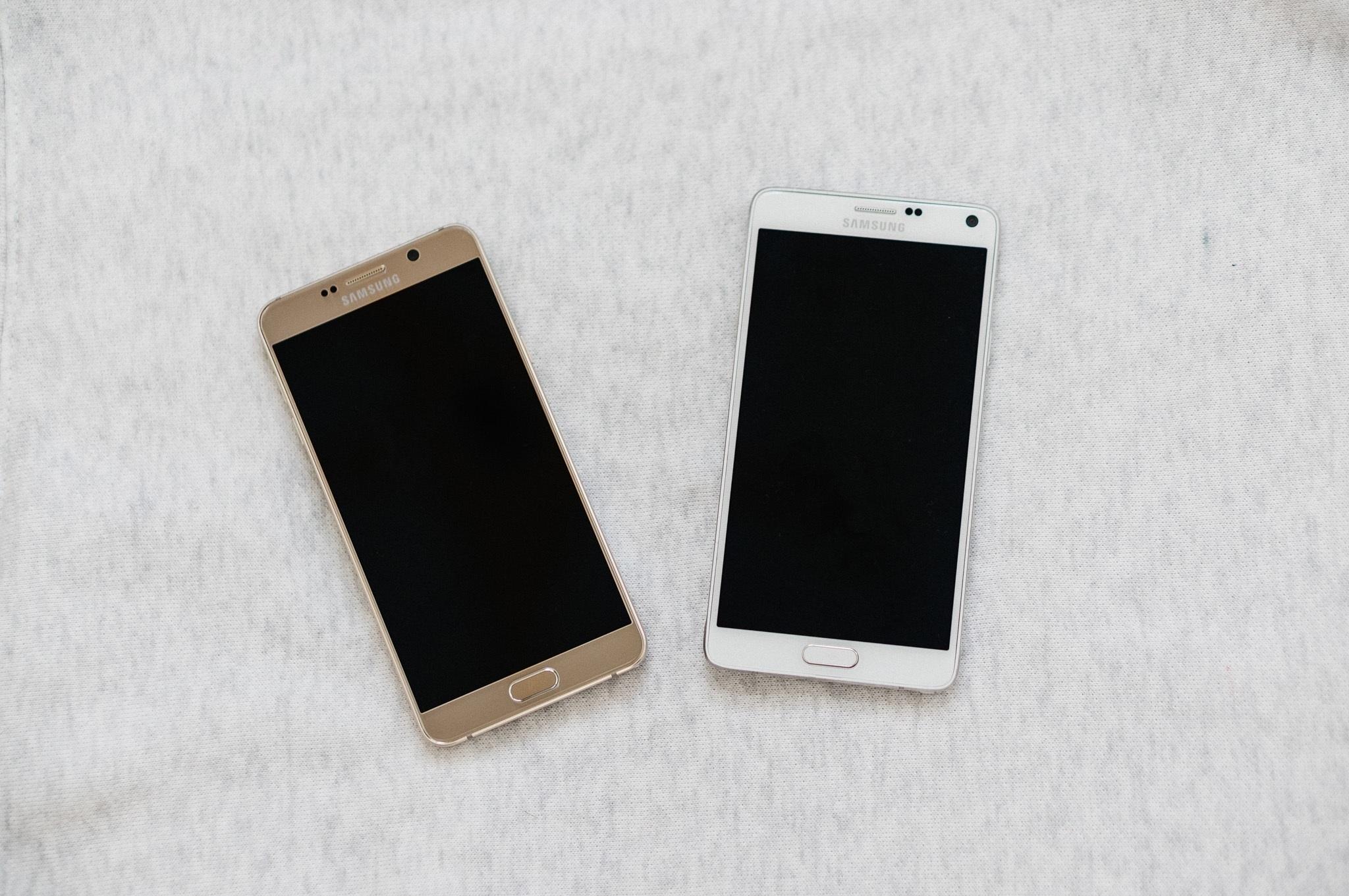 Note 4 và Note 5 đọ dáng