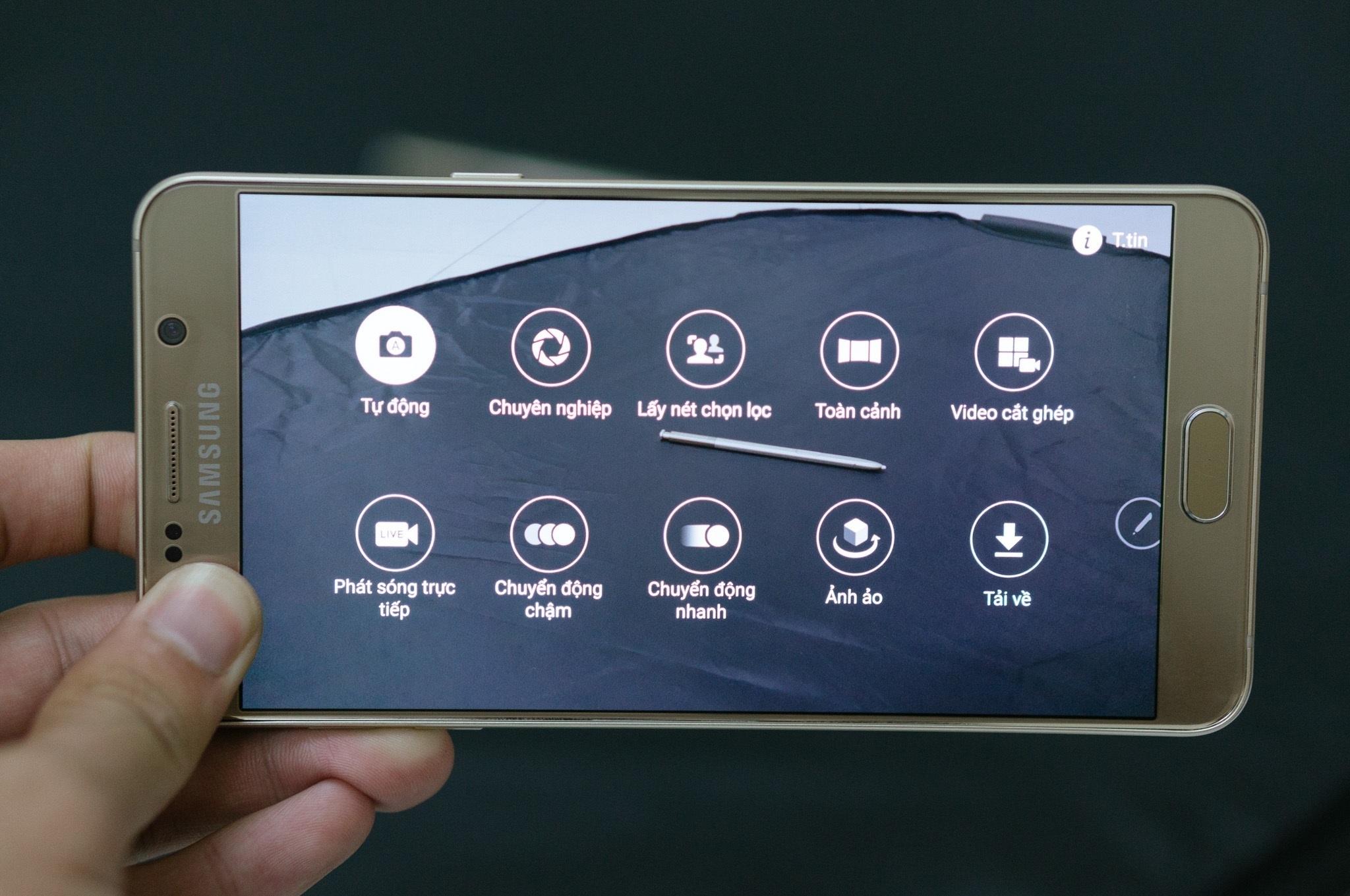 Galaxy Note 5 camera công nghệ vượt trội