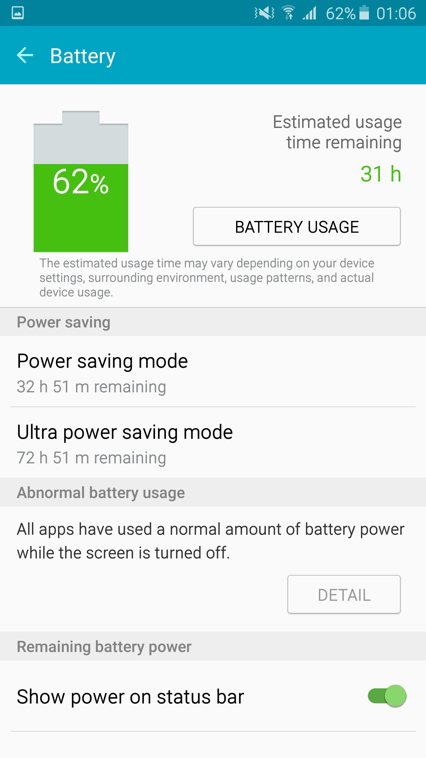 Galaxy Note 5 pin sử dụng lâu bền