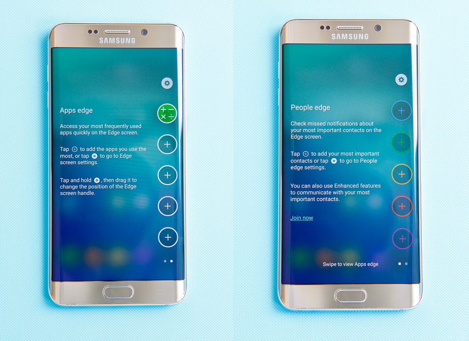 Galaxy S6 Edge Plus màn hình rõ nét