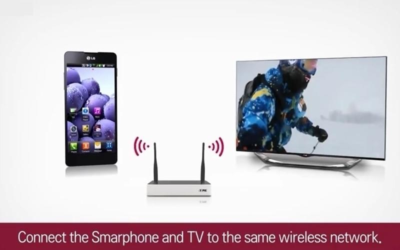 Smart tivi LG và điện thoại phải sử dụng chung một sóng wifi