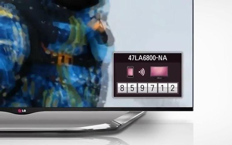 Mã PIN hiện ra trên tivi LG