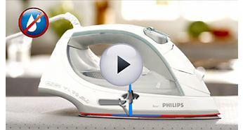 Hệ thống ngăn rỉ nước của bàn ủi hơi nước Philips GC3720 cho phép bạn ủi các loại vải mềm ở nhiệt độ thấp mà không phải lo về các vết bẩn từ nước nhỏ giọt.