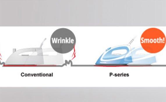 Bàn ủi hơi nước Panasonic NI-P300TRRA ủi quần áo nhanh hơn