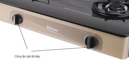 Bếp gas Paloma PA-V72EG trang bị nút vặn nhẹ nhàng