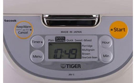 Nồi cơm điện Tiger JBV-S18W bảng điều khiển điện tử dễ sử dụng