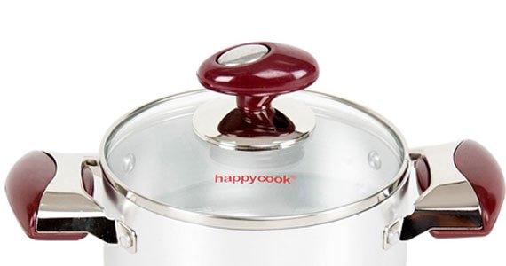 Nồi nhôm đáy từ Happy Cook Brilas HB-16SA được thiết kế tiện dụng