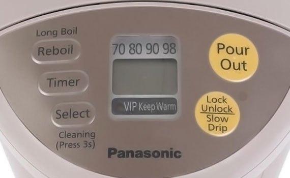 Bình thủy điện Panasonic NC-BG3000CSY có bảng điều khiển điện tử