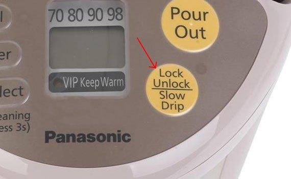 Bình thủy điện Panasonic NC-BG3000CSY có khóa an toàn