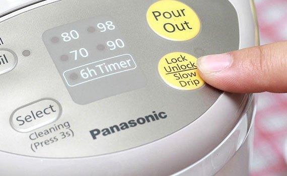 Bình thủy điện Panasonic NC-EG3000CSY có khóa an toàn