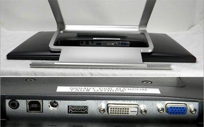 Màn hình máy tính Dell S2240T trang bị kết nối đầy đủ