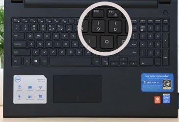 Laptop Dell 15 3542 bàn phím và touchpad hiện đại