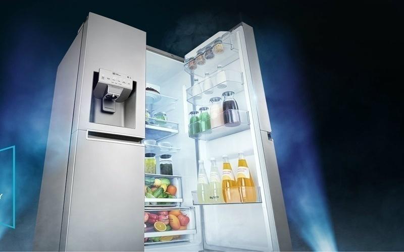 Tủ lạnh side by side có nhiều ngăn tiện dụng