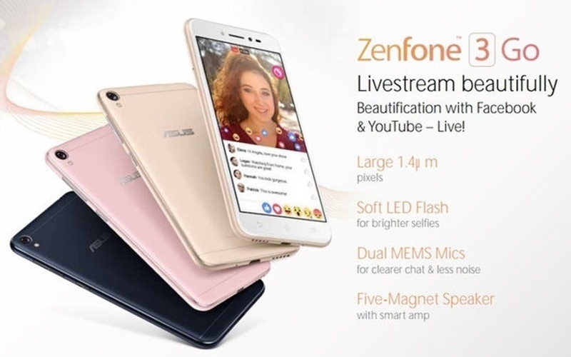 Zenfone 3 Go có đèn LED Flash cho tha hồ selfies