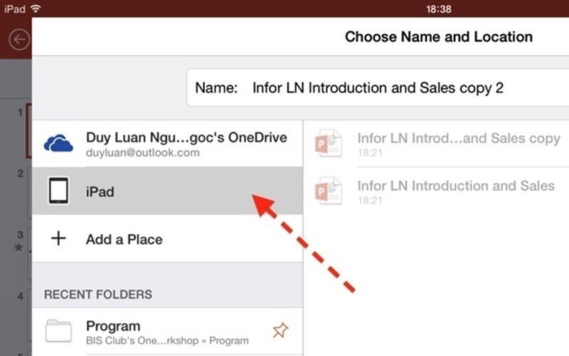 Lần đầu bạn sử dụng Word trên iPad nên có lẻ chưa có tài liệu nào