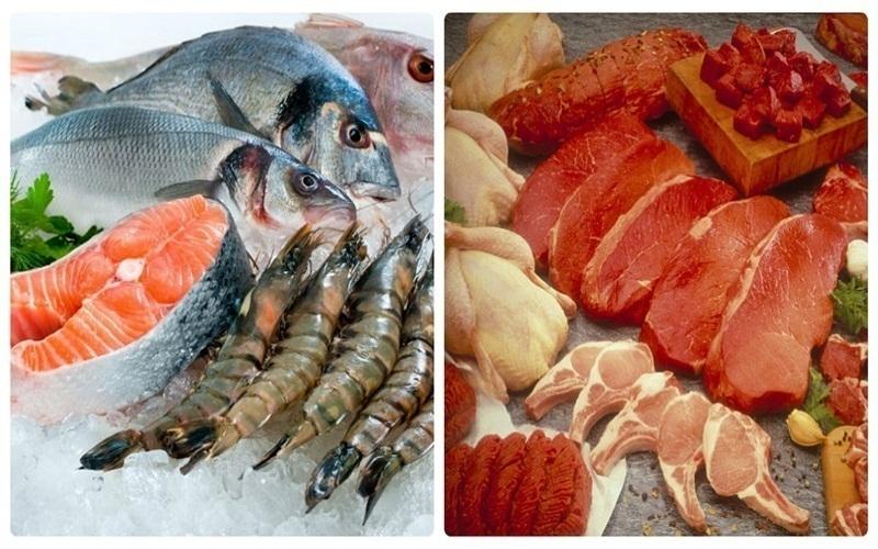 Cần sơ chế kỹ thịt, cá trước khi bảo quản trong tủ lạnh