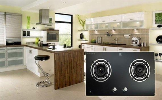 Bếp gas âm Electrolux EGT7526CK với thiết kế hiện đại, sang trọng