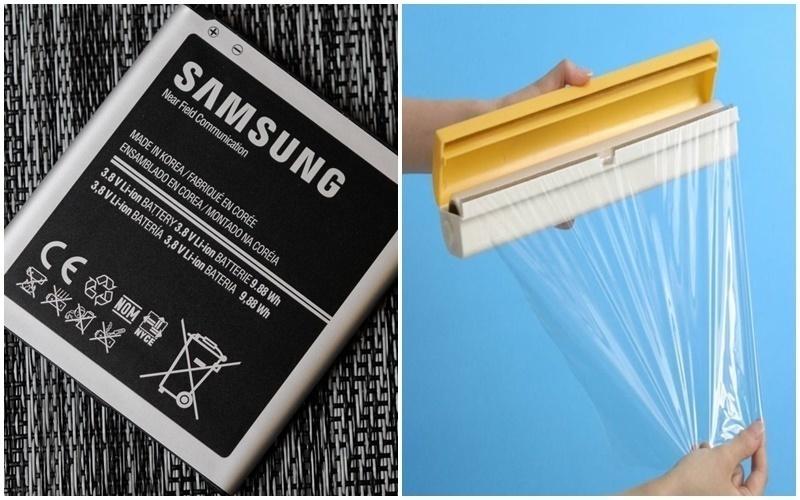 Bọc pin lại bằng giấy gói thực phẩm