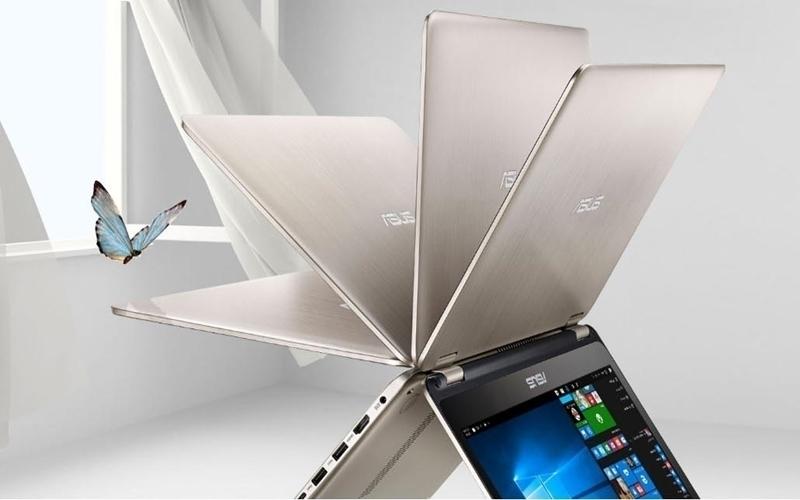 Xoay gập tiện lợi 360 độ với laptop Asus