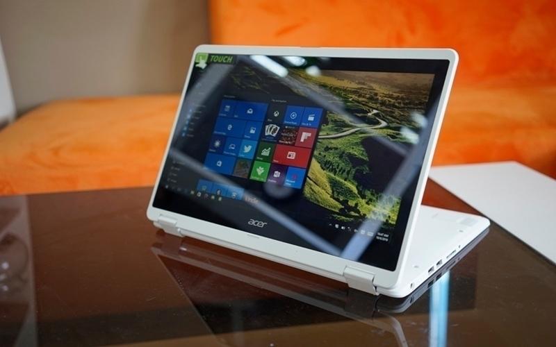 Thiết kế gọn, nhẹ của máy tính xách tay  Acer