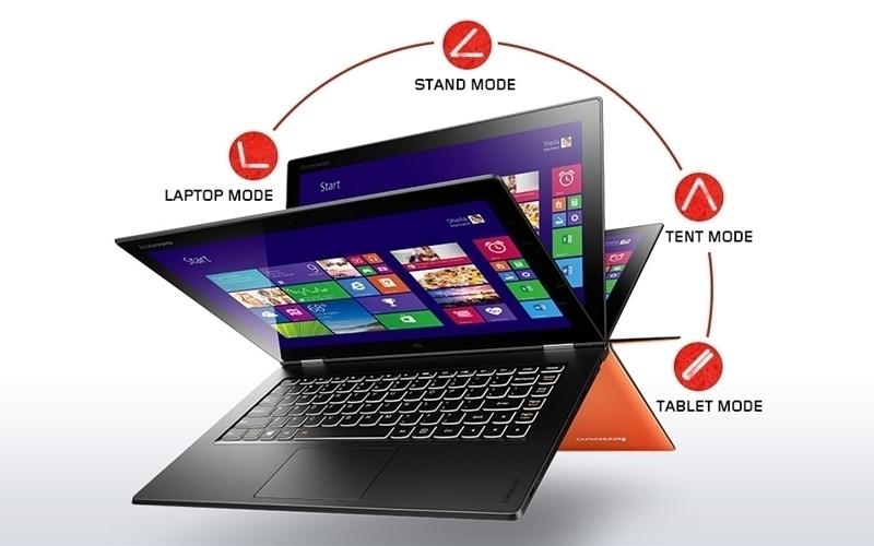 Laptop cảm ứng biến hóa đa dạng