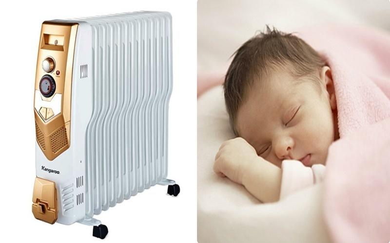 máy sưởi dầu Kangaroo KG960 không gây khô da em bé