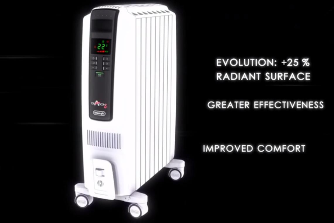 máy sưởi dầu Delonghi TRDS4 1025E tiết kiệm điện năng tối ưu