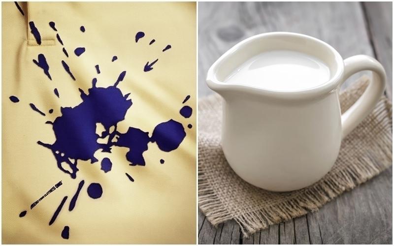 Xử lý vết mức với sữa trước khi cho vào máy giặt