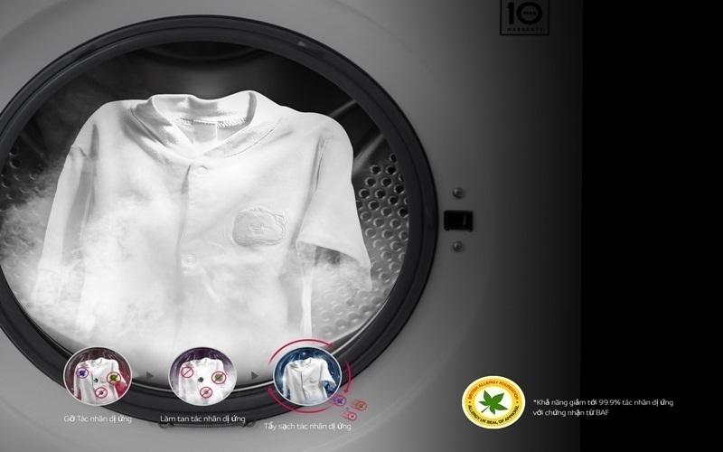 Công nghệ giặt hơi nước True Steam loại bỏ mọi tác nhân gây dị ứng trên quần áo