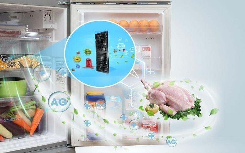 Với công nghệ khử mùi Nano bạc, tủ lạnh Aqua sẽ mang đến những thực phẩm an toàn cho bạn