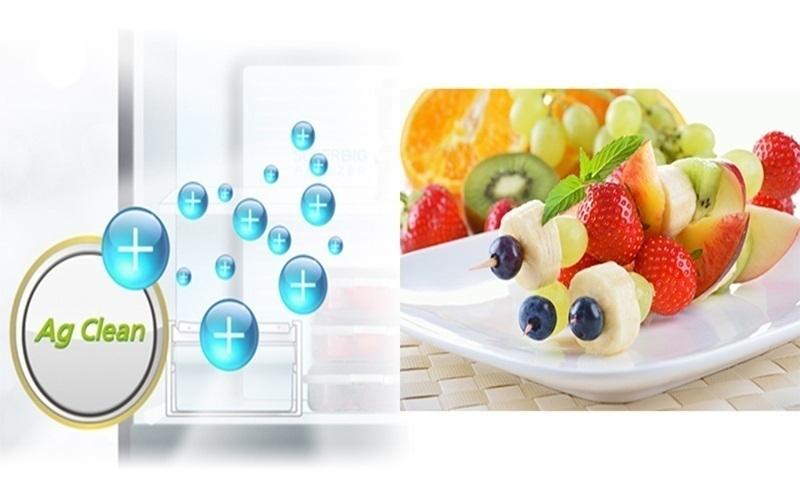Những tinh thể Ag sẽ đánh bay mùi hôi trong tủ lạnh cho thức ăn luôn tươi ngon