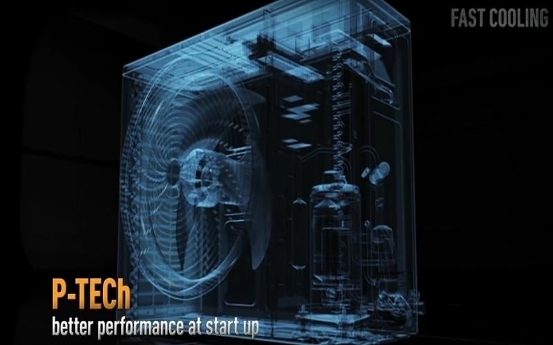 Công nghệ P-TECh giúp máy nén lạnh đạt tần số tối đa trong thời gian ngắn