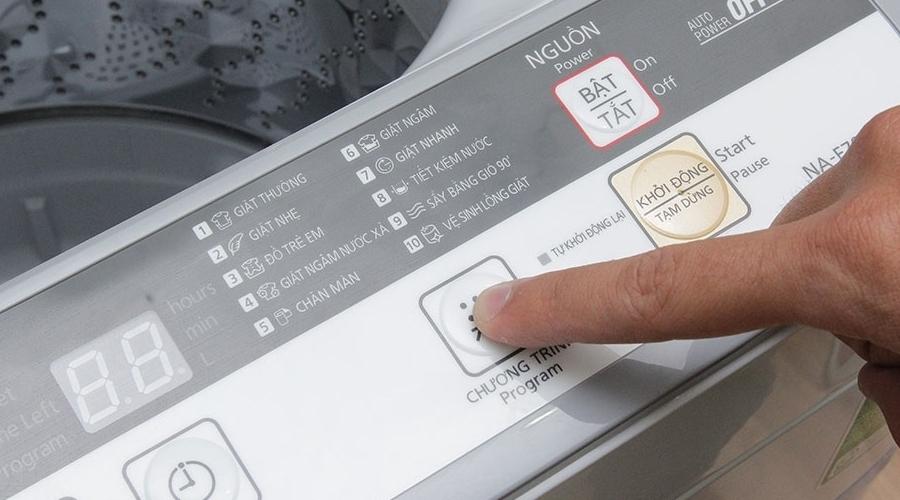 Máy giặt Panasonic 7 kg NA-F70VB7HRV có tính năng tự khởi động lại