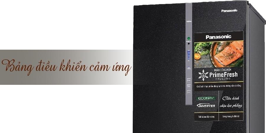 Tủ lạnh Panasonic 255 lít NR-BV288GKVN có bảng điều khiển cảm ứng