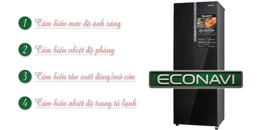 Tủ lạnh Panasonic 290 lít NR-BV328GKVN có cảm biến Econavi