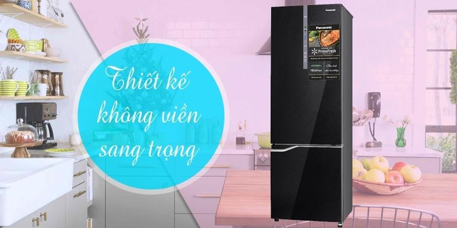 Mua tủ lạnh ở đâu tốt? Tủ lạnh Panasonic 322 lít NR-BV368GKVN