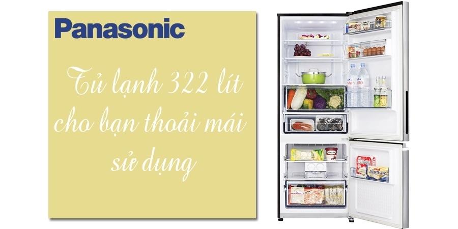 Tủ lạnh Panasonic 322 lít NR-BV368GKVN giá tốt tại nguyenkim.com