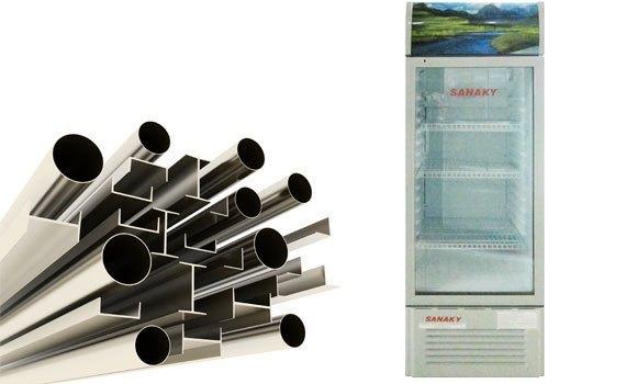 Tủ mát Sanaky VH-218K 170 lít làm lạnh bằng dàn lạnh nhôm