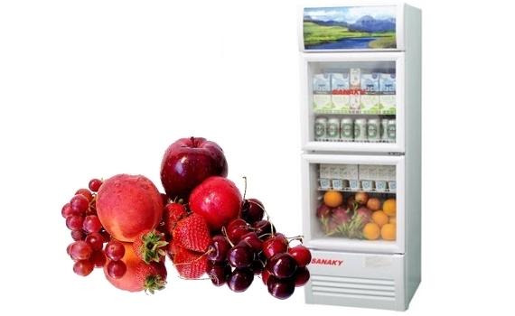 Tủ mát Sanaky VH-218W 170 lít bán trả góp 0% tại Nguyễn Kim