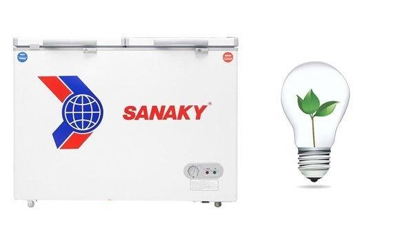 Tủ đông Sanaky VH-225W2 165 lít tiết kiệm điện năng