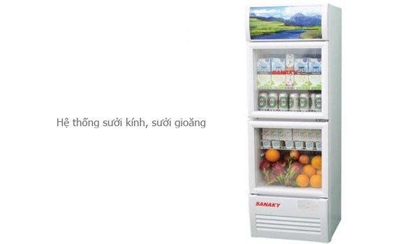 Tủ mát Sanaky VH-258W 200 lít có hệ thống sưởi kính